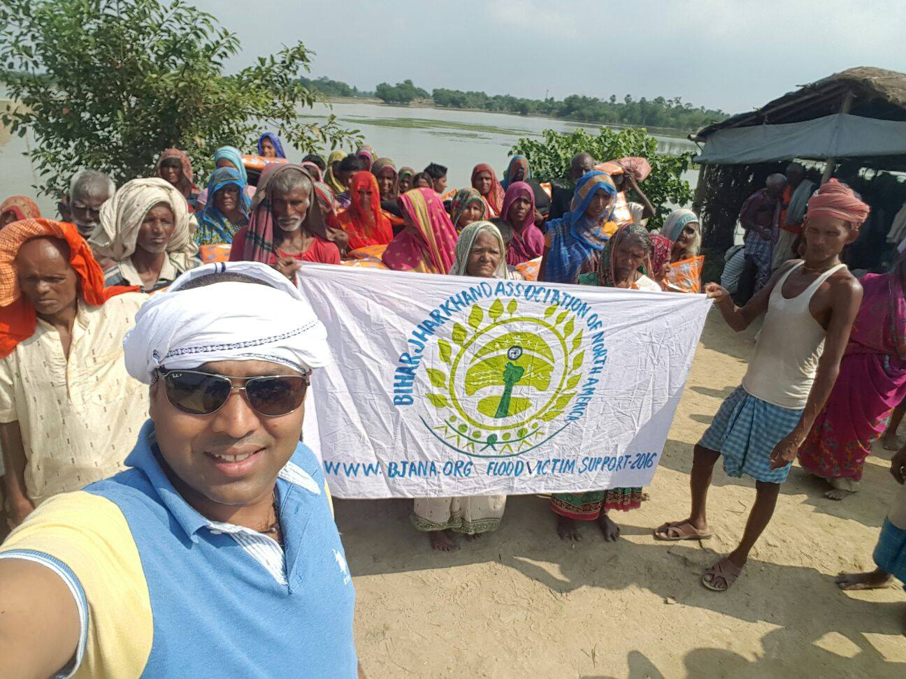 BJANA Member Mr. Alok Kumar organized a flood relief camp in Darbhanga, Bihar